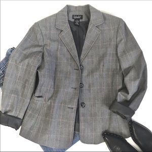 Rafaella Plaid Blazer